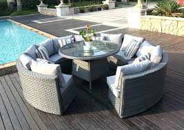round outdoor dining table for 6 top round rattan outdoor patio garden furniture within outdoor furniture round outdoor dining table