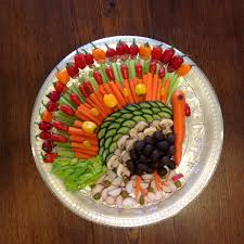 Decorative Relish Tray For Thanksgiving Thanksgiving vegetable platter idea I used tomatoes celery 1
