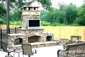 cost of outdoor fireplace average brick