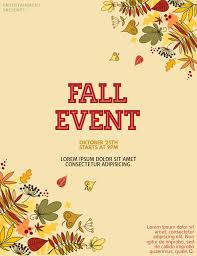 Fall Flyer Fall Event Flyer Template Postermywall