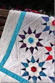 1050 best Quilting Makes the Quilt images on Pinterest | Longarm ... & Love how Kathy played the giant hexi-star quilting with the pointier-points  stars of the piecing. Like the inner border filler with line and pebble work Adamdwight.com