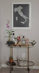 bar cart on the blog/RestlessOasis