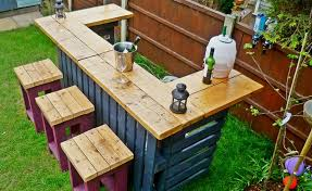 diy bar. The Just Add Some Funky Colors And Lots Of Tasty Drinks You\u0027ll Have Your Own Outdoor Bar Right In Backyard\u2026 Diy