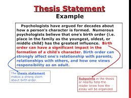 write thesis statements co how to write a thesis statement