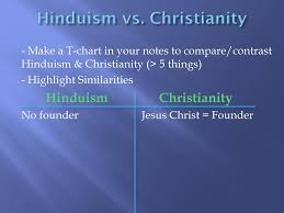 Similarities Between Hinduism And Christianity Chart Early Belief Systems Ppt Download