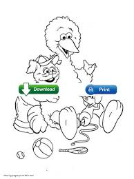 Small Picture Sesame Street Big Bird Coloring PagesStreetPrintable Coloring