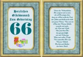 Geburtstagskarten 66 Geburtstag