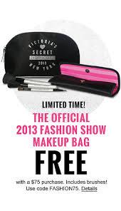 victoria secret free makeup bag code