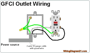 house electrical wiring diagram gfci outlet wiring diagram electrical installation