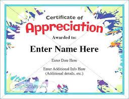 Free Appreciation Certificates Of Certificate Appreciation Template Editable Best Blank