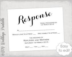 response cards template wedding rsvp template elegant ironwork with etsy