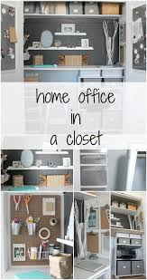 home office closet. Home Office In A Closet Tour - The Crazy Craft Lady I