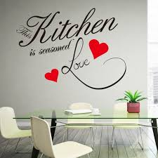 this kitchen is seasoned love quote wall decal removable waterproofing vinyl wall stickers zy8243 on vinyl wall art quotes for kitchen with this kitchen is seasoned love quote wall decal removable
