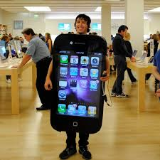 iphone costume. iphone: we know the iphone costume isn\u0027t anything new, but have to give some credit this guy whose actually works! iphone h