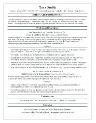 Child Care Skills Resumes Here Are Resume For Sample Provider