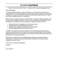 Cover Letter Template Law Enforcement Resume Format