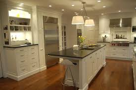 elegant track lighting. Elegant White Kitchen Cabinet Refacing Ideas On Wooden Floor Combined With Sweet Black Track Lighting L