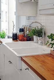 Ikea Farmhouse Sink Butchers Block Counters Hides The Cuts In Counter  Tops Under Ikea Apron Front Sink T90