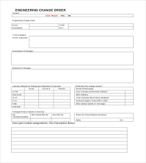 Order Template 11 Change Order Templates Forms Word Excel Fomats
