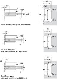 shower door hinge wall to glass hinge