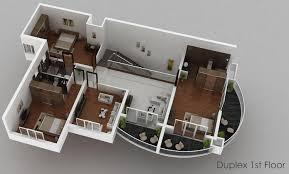 duplex home design plans 3d home plan