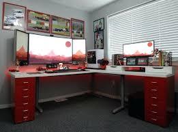 impressive office desk setup. Computer Table Setup Amazing Of Perfect Desk Best Ideas About On Gaming Impressive Office