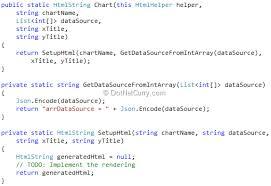 Creating A Html5 Chart Helper Extension For Asp Net Mvc 4