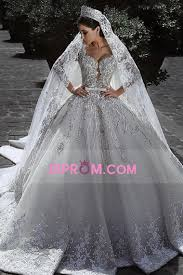 2018 long sleeves a line wedding dresses tulle with applique and