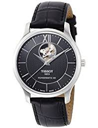 amazon co uk tissot watches mens tissot tradition open heart powermatic 80 automatic watch t0639071605800