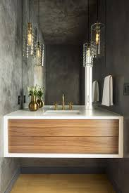 concrete style walls and ceiling in powder room