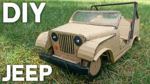 rc mini jeep diy at home cardboard jeep how to make electric toy car