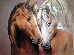 original art two horses