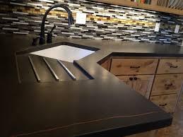 kitchen worktops ideas worktop full: view in gallery dark colored concrete makes a dramatic statement