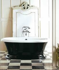 aquatic serenity 11 freestanding bath tub black and white aquatic
