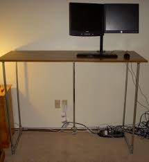 diy standing desk pipe. Fine Standing Standingdesk Diy Tall Desk Pipe Galvanized Pipe House Inside Desk  Ideas Inside Standing S