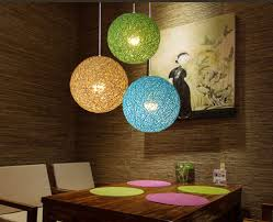 rattatoon rattan globe pendant lamp mixed colors 5