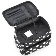 vsen whole hot styleblack polka dots travel cosmetics makeup bags beauty organiser toiletry purse china