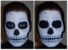 skull skeleton face paint tutorial