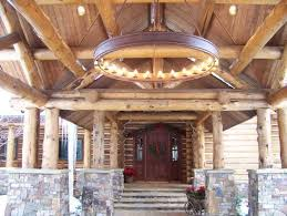 rustic outdoor lighting porch