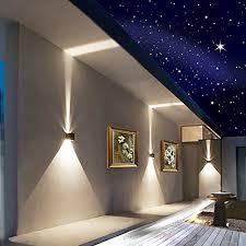 led aluminum waterproof wall lamp12w 85225v 3200k adjustable outdoor light warm 2leds black modern exterior wall lights m98