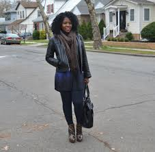 thrift style black leather old navy jacket
