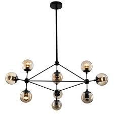 replica lighting. Modo Chandelier Lights Replica Jason Miller Black 10 Lighting A