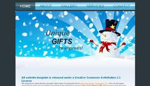 Free Christmas Website Templates Christmas Blue White Css Web Template