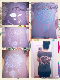 Dream Catcher Shirt Diy DIY Dreamcatcher cutout t shirt cutting cut out crafting 6