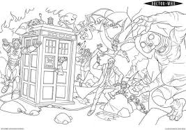 Small Picture Doctor Who 5 TV Shows Printable coloring pages
