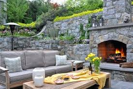 outdoor stone fireplace pictures view in gallery a sunken outdoor outside stone fireplace designs
