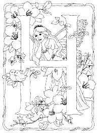 Small Picture Flower Fairies Alphabet Color it Yourself Art psychedelic