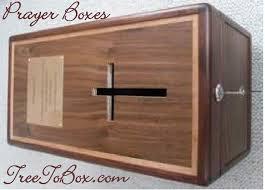 prayer box with cross slot