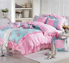 beauty girl 100 cotton 3pcs kids 4pcs princess ruffled lace bedskirt bedlinen bedding set twin full queen king size b3013 in bedding sets from home