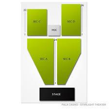 Starlight Amphitheater Seating Chart Pala 2019